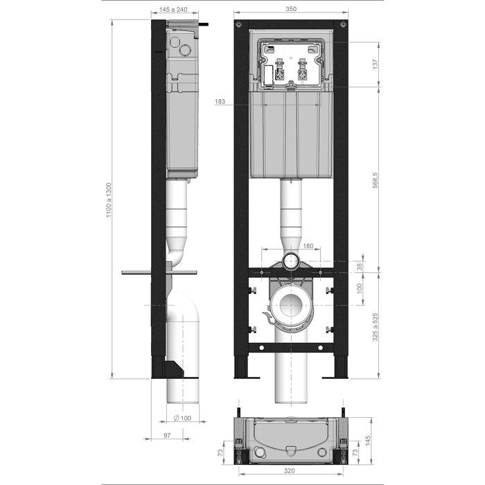 Bâti-support Ingenio Quieto OD-1