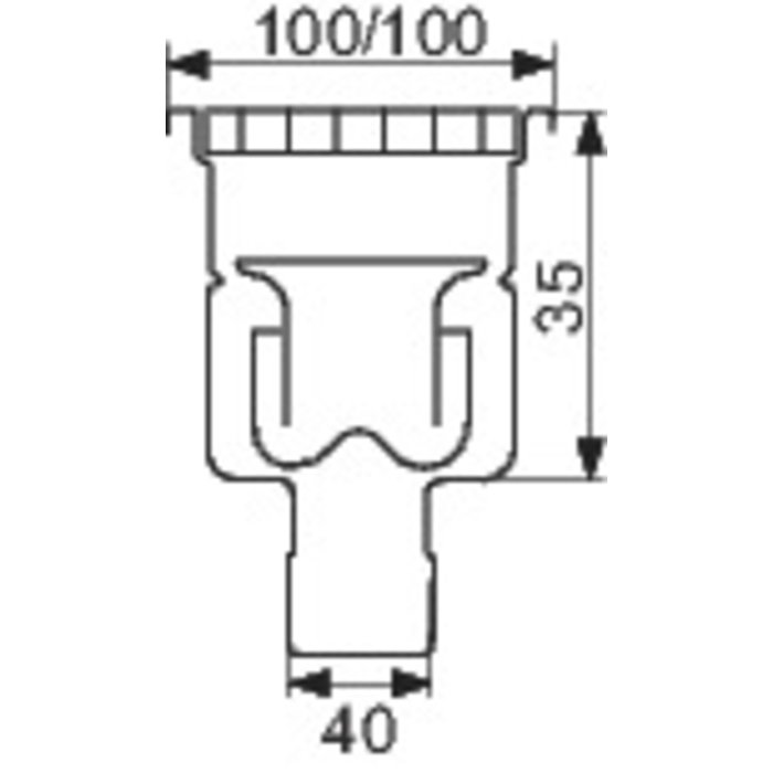 Siphon de sol inox - Longueur 100 mm - Largeur 100 mm-1