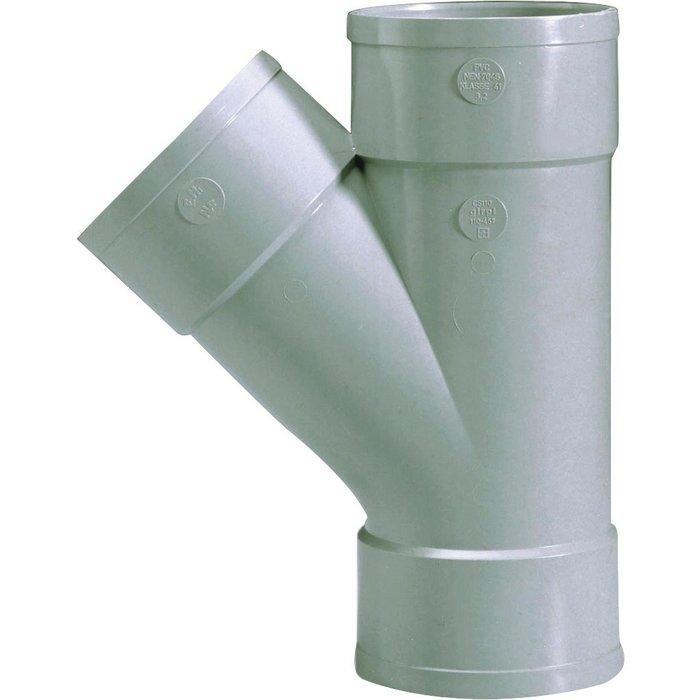 Culotte d'évacuation à 45° - PVC - Triple emboîture - Femelle / Femelle