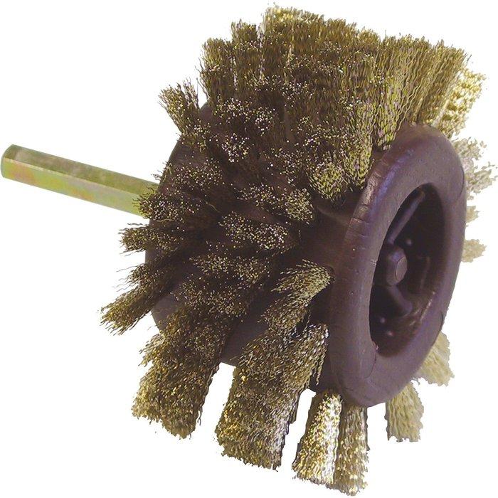 Brosse radiale - Acier laitonné