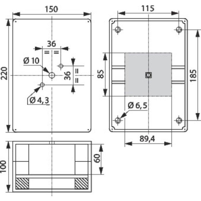 Interrupteur de proximité - Tripolaire - Intensité 40 A-1