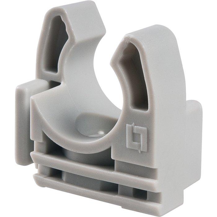 Collier lyre - Pour fixation de tube - Gris-1