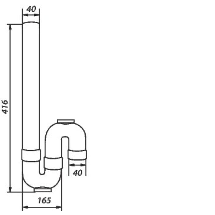Siphon plastique de machine à laver - Sortie verticale-1