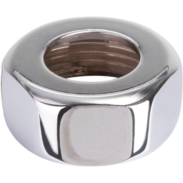 Écrou à visser - Laiton chromé - Femelle - 6 pans-1