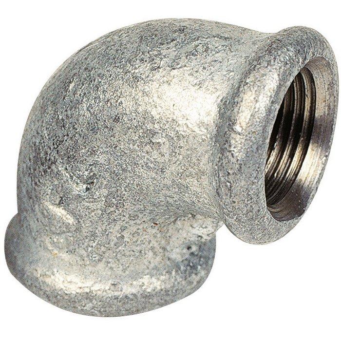 Raccord coudé 90° - Fonte galvanisée - Femelle / Femelle - 90