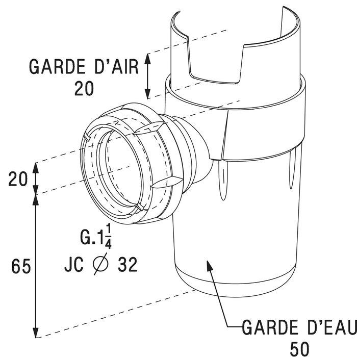 Siphon pour groupe de sécurité - À emboîter-1