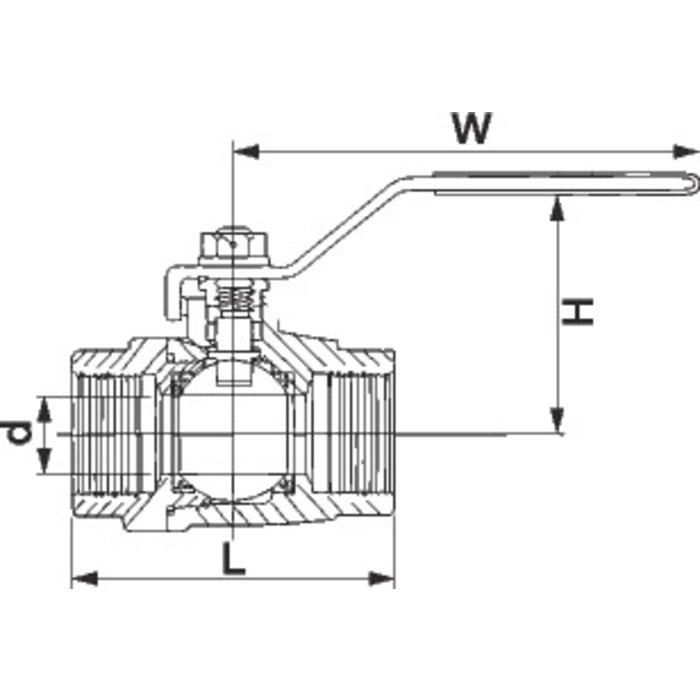 Vanne monobloc inox - Femelle - PN 55-1
