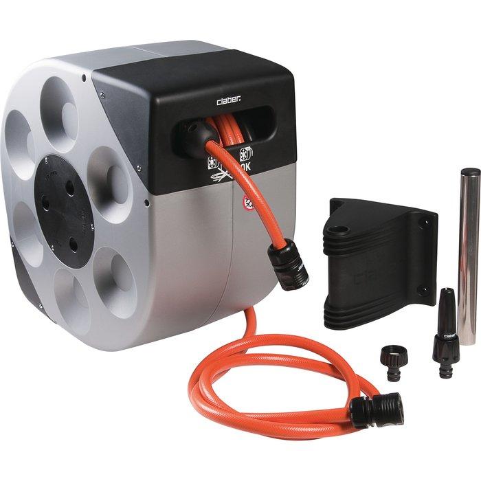 Dévidoir de tuyau d'arrosage avec enrouleur automatique
