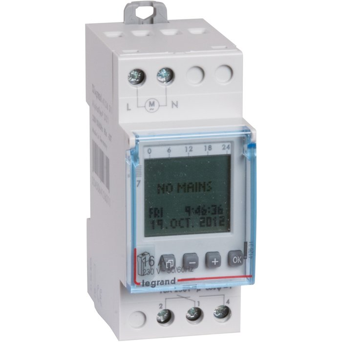 Interrupteur horaire programmable - Digital - 2 modules-1