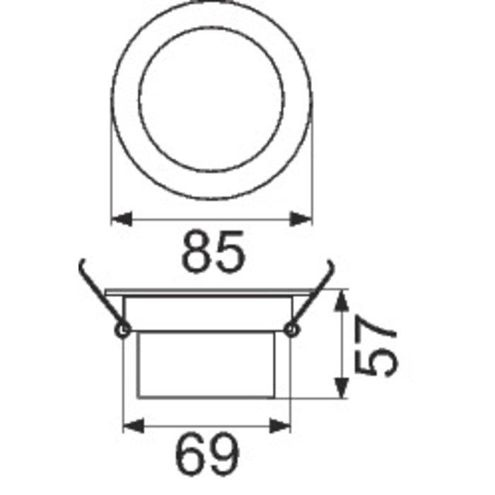 Spot à LED d'intérieur - Encastré - Orientable - Puissance 5 W-1