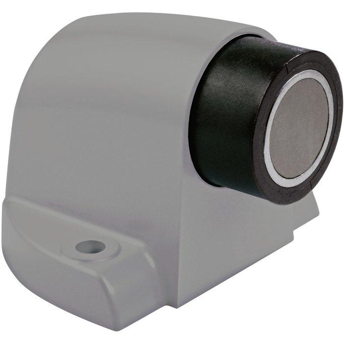 Butée magnétique pour porte lourde - Gris métallisé