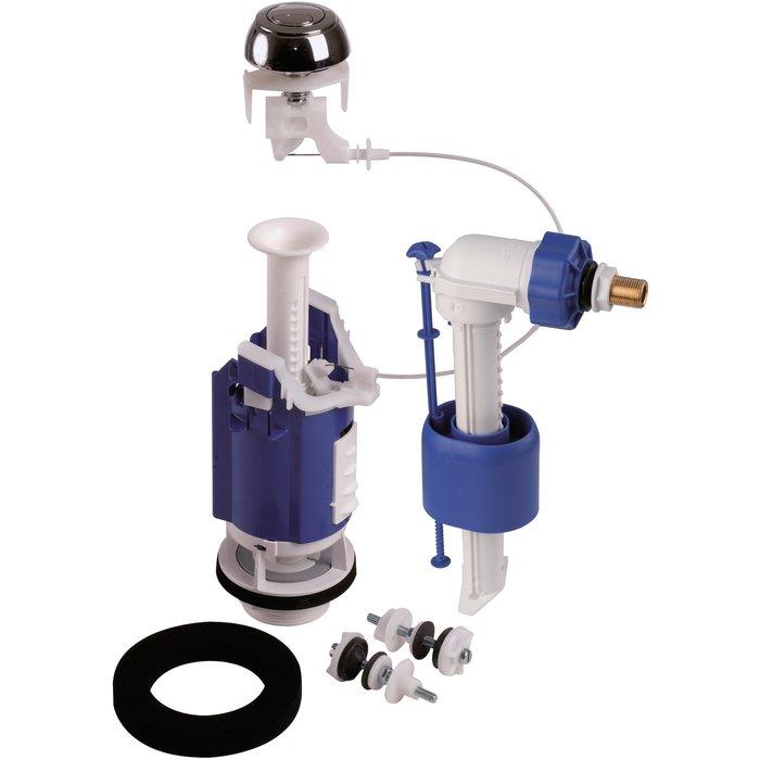 Kit mécanisme de WC 365 à câble - Poussoir double débit