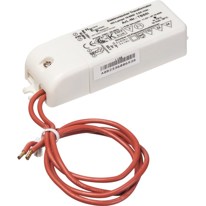Transformateur électronique - Pour ampoule halogène - Puissance 10 à 60 W