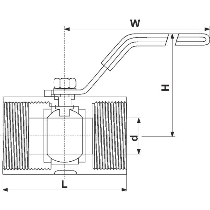 Vanne monobloc inox - Femelle - PN40-1
