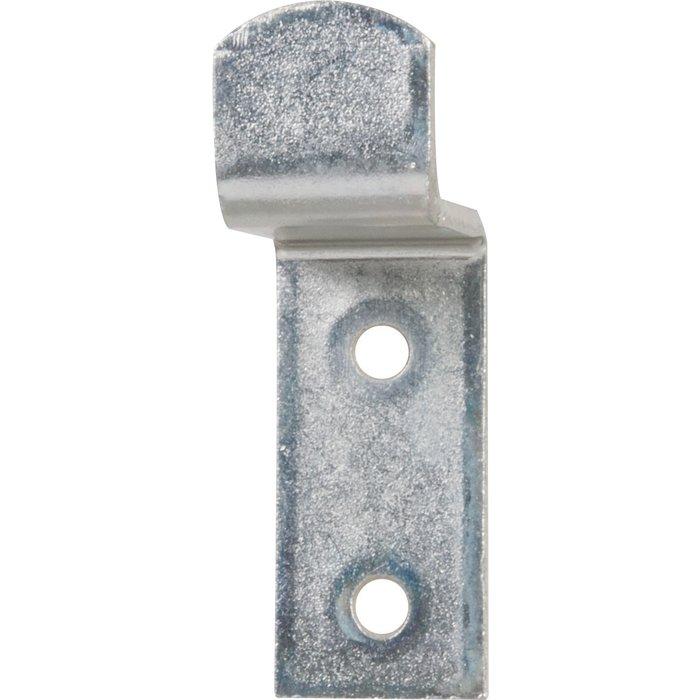 Butée de volet contre coudée - Zingué blanc - Dimension 42 x 20 mm