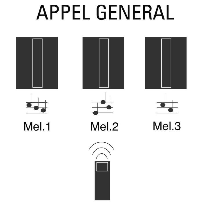 Kit carillon radio - Avec flash - Fixation saillie-1