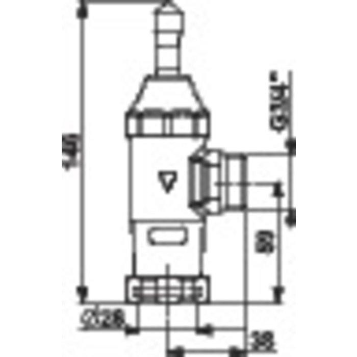 Robinet applique pour chasse P1000 M-1