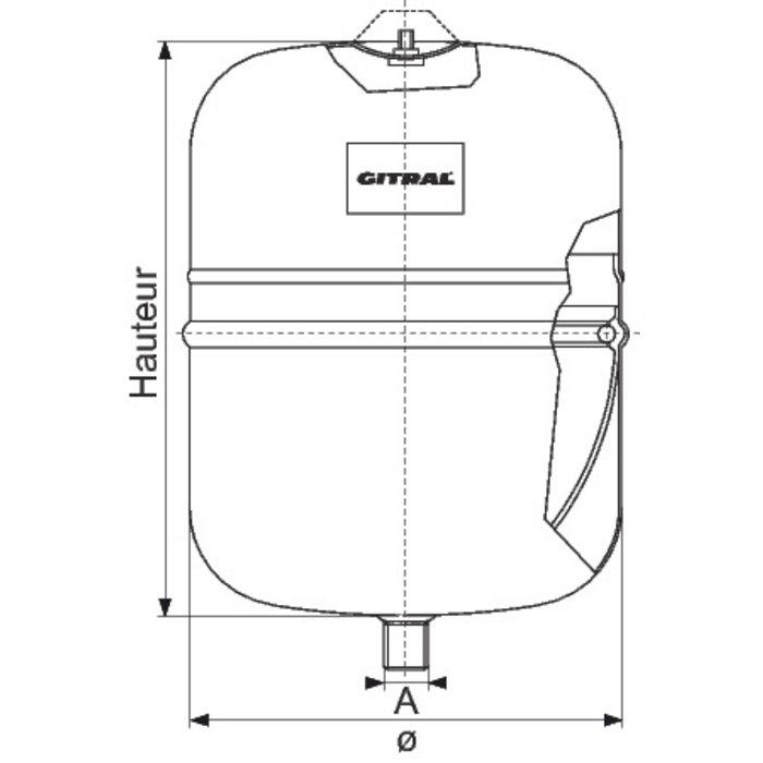 Vase d'expansion - Eau sanitaire - Température maxi 110°C-1