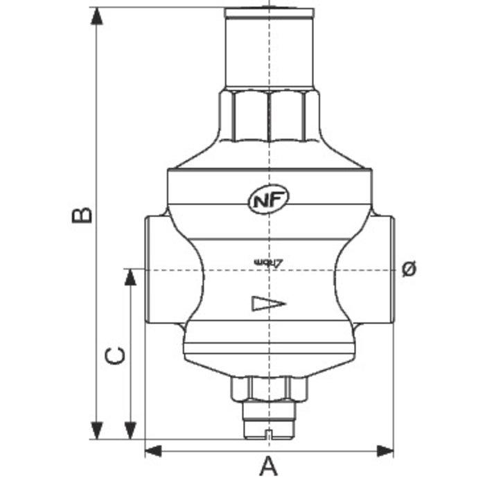 Détendeur à membrane Rinox - Femelle / Femelle-1