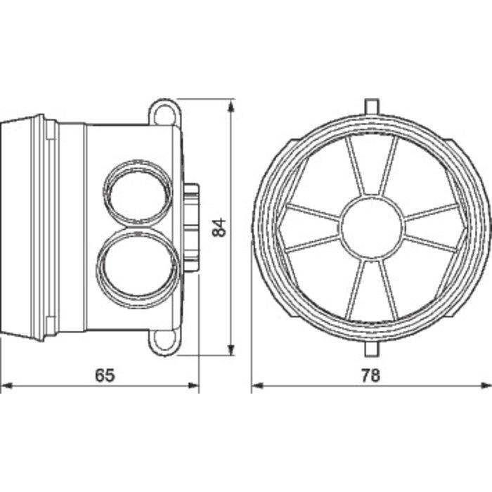 Boîte d'encastrement simple Batibox - Béton - 1 poste - Profondeur 58 mm-1