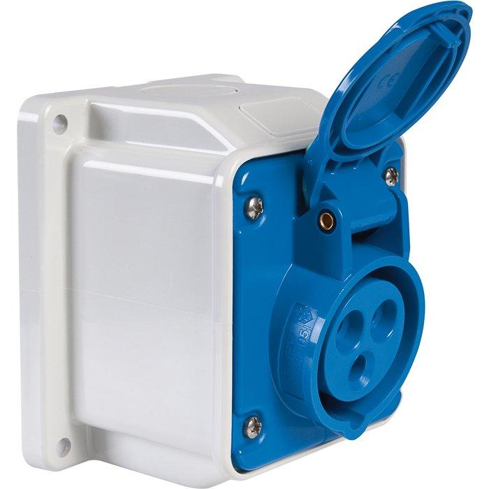 Socle de prise industrielle - En saillie - Protégée à 10°-1