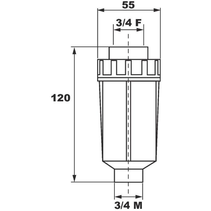 Filtre anti-calcaire pour machine à laver-1
