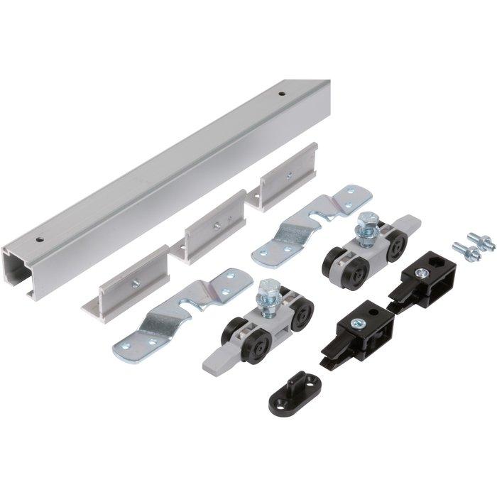 Kit de garniture de porte coulissante Expert - Avec rail - Capacité 80 kg
