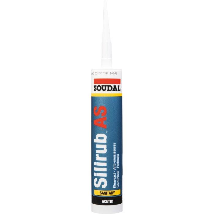 Mastic silicone Silirub AS - Spécial sanitaire et cuisine - Contenance 300 ml-1