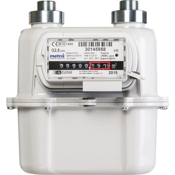 Compteur gaz G2,5 - Filetage mâle