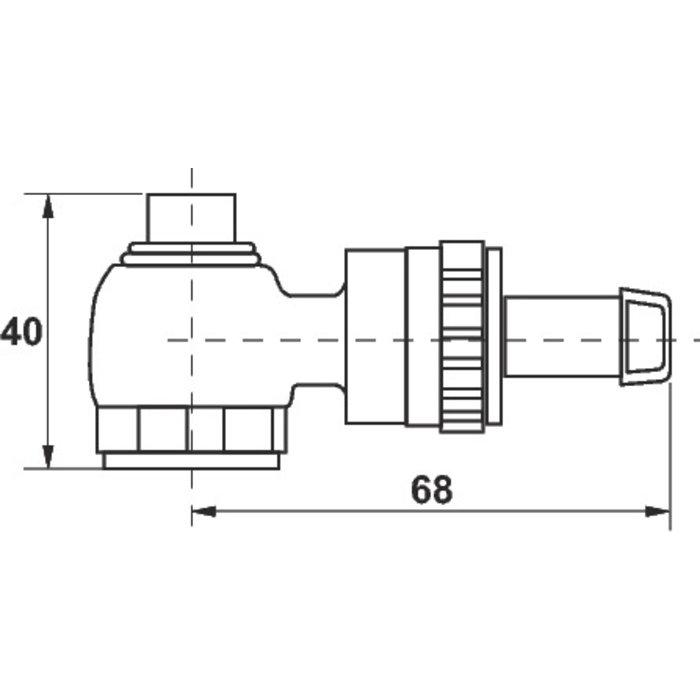 Outil de vidange pour coude et té de réglage RLV-1