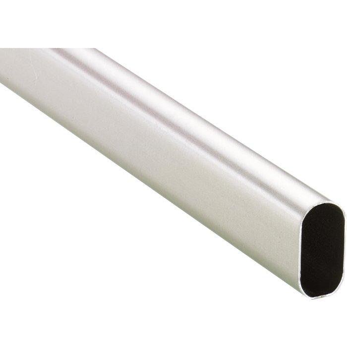Tube ovale acier chromé brillant