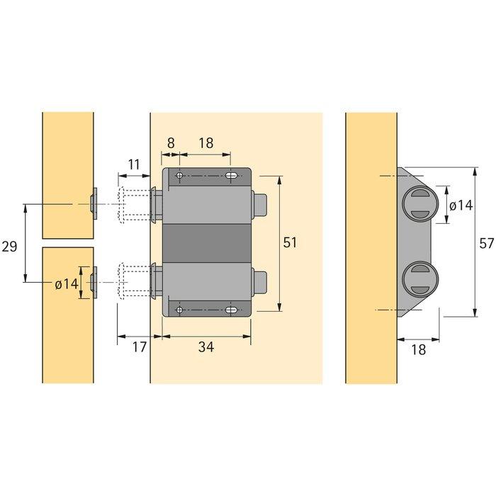 Magnétique à pression D2/ GP9-1