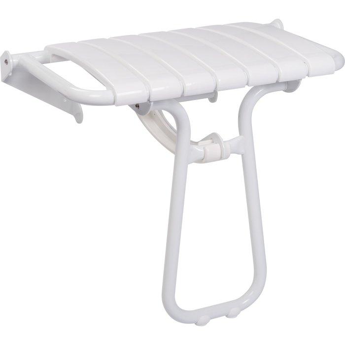 Siège de douche escamotable - Extra-large - Époxy blanc