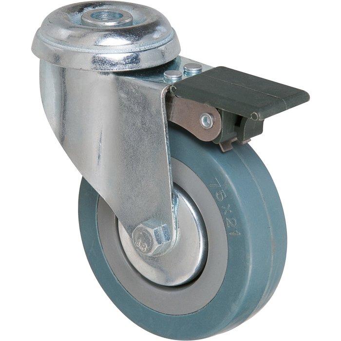 Roulette pivotante à œil à frein série S19 AF