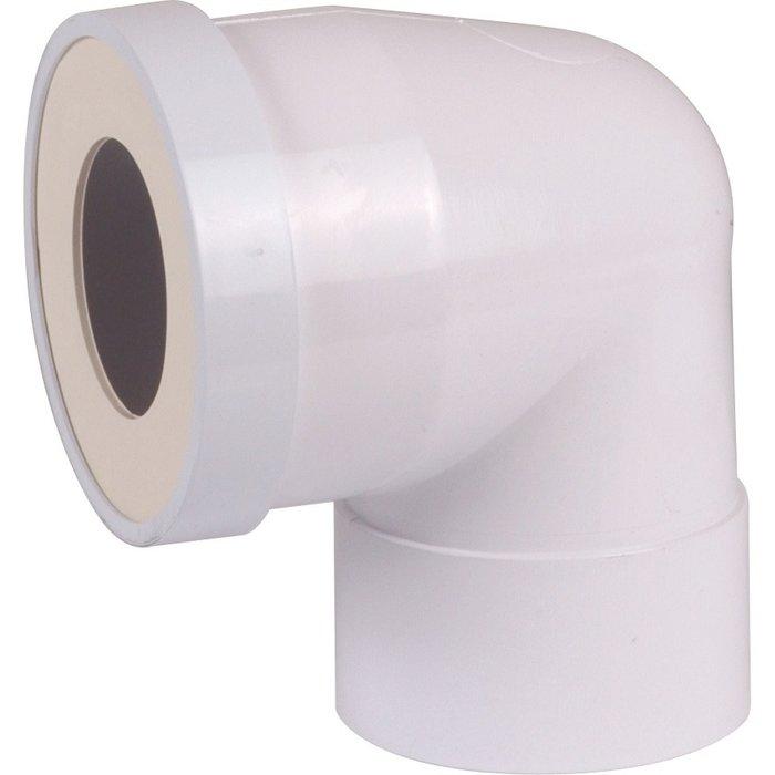 Pipe WC courte à 90° - Femelle - Diamètre 100 mm