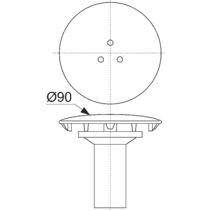 Grille de vidage pour tasse à collerette - Diamètre 85 mm-1