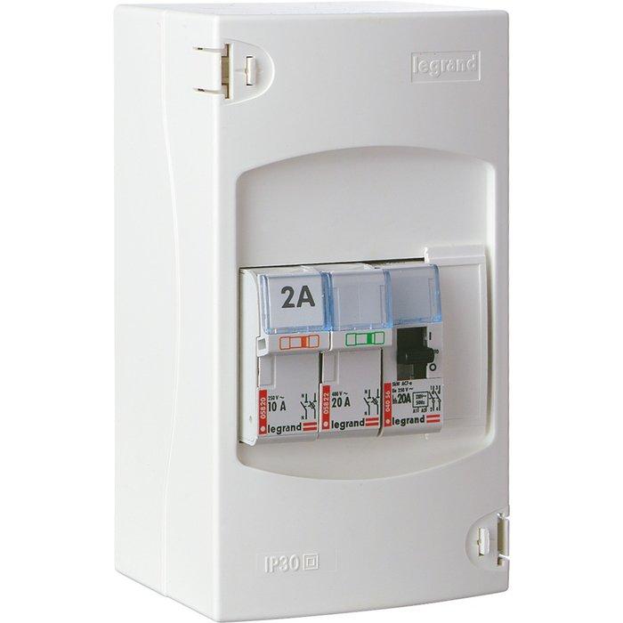 Coffret de protection pour chauffe-eau - 4 modules