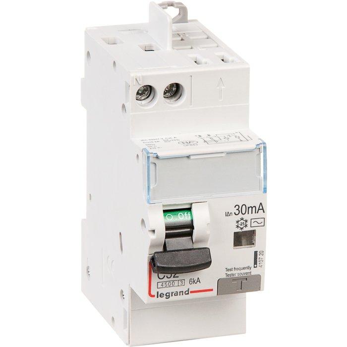 Disjoncteur différentiel DX³ 4500 - 6 kA - Courbe C - Protection de groupe-1