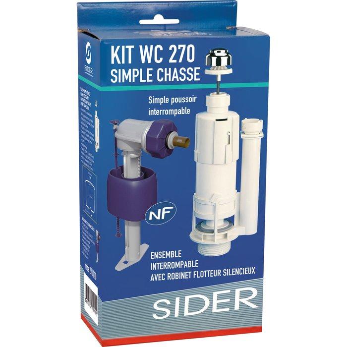 Kit mécanisme de WC 270 - Poussoir simple débit-5