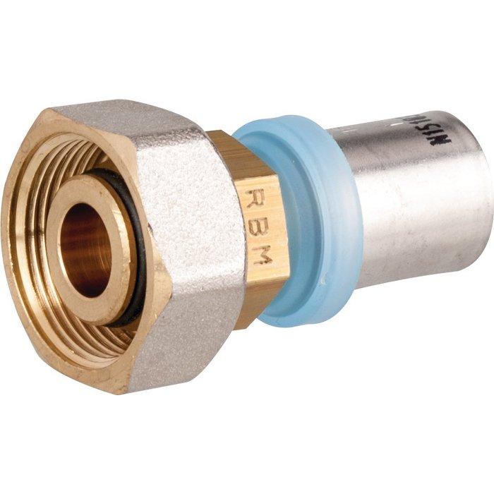 Raccord de radiateur à sertir - Pour tube multicouche - Femelle-1