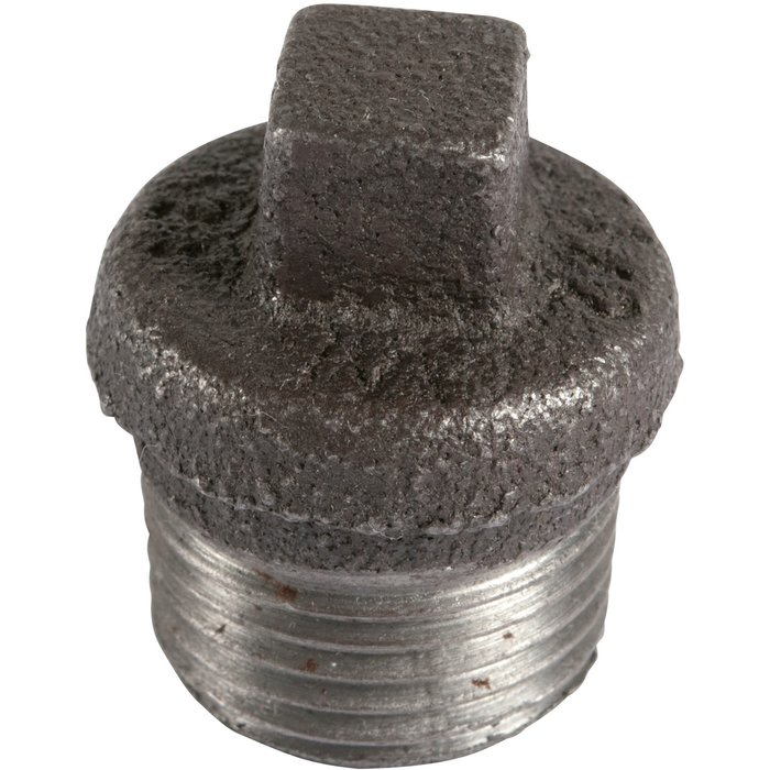 Bouchon à collerette - Fonte noire - Mâle - 290