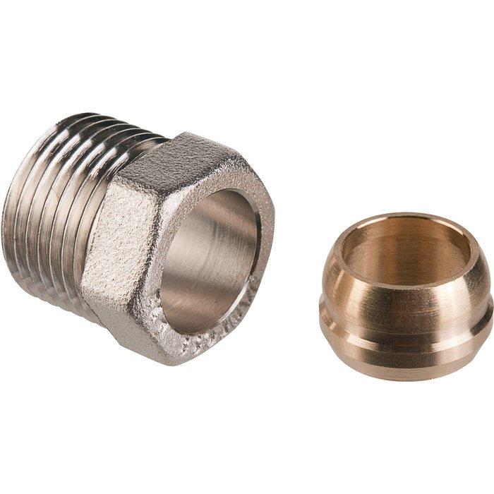 Raccord de radiateur - Pour tube cuivre - Mâle-1