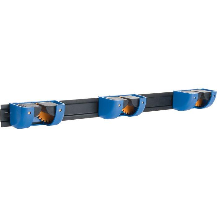 Support 3 blocs manches sur réglette - Diamètre de manche 10 à 40 mm