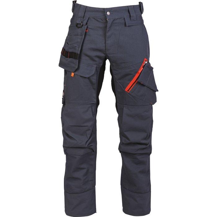 Pantalon de travail multipoches Brakel - Toile - Gris-1