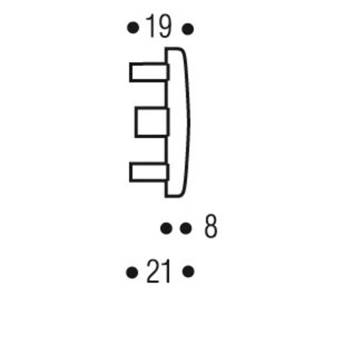 Voyant de targette - Acier chromé-1