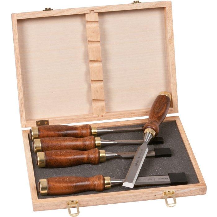 Ciseaux à bois - Manche en bois - Coffret de 5 pièces