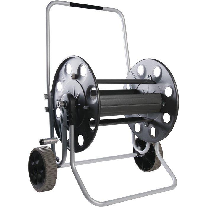 Dévidoir de tuyau d'arrosage sur roues pro - Métallique-2
