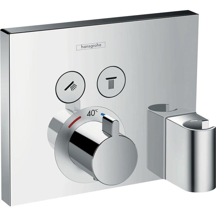 Set de finition mitigeur thermostatique ShowerSelect E encastré - Fixfit et porter intégrés-1