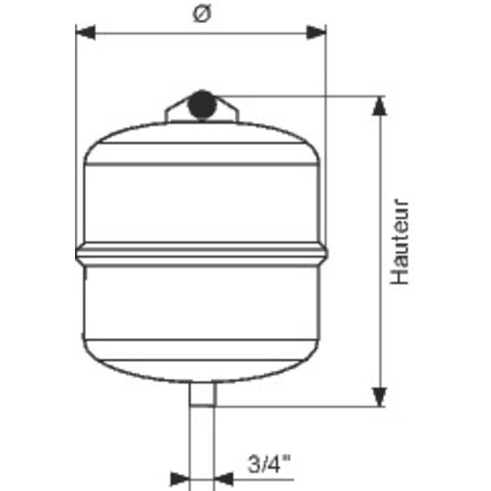 Vase d'expansion à membrane - Chauffage-1