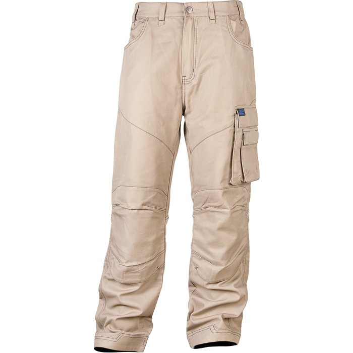 Pantalon de travail Camden - Coutures contrastées - Coton / Polyester - Noir-1